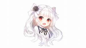 Red Eyes Anime White Hair Pictures to Pin on Pinterest ...