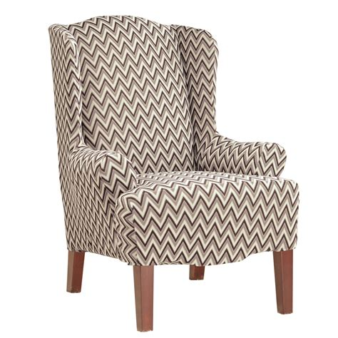 sure fit wing chair slipcover sure fit stretch chevron wing chair slipcover ebay