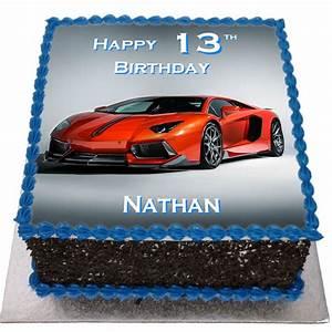 Lamborghini Birthday Cake - Flecks Cakes