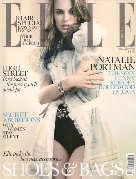 Natalie Portman Covers Elle February Stylefrizz