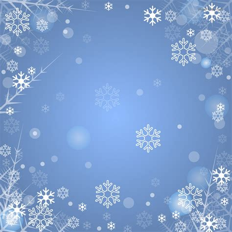 Blue Snowflake Background Clipart by Blue Winter Background With Snowflakes Free