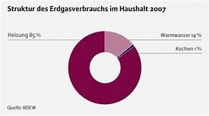 Heizkosten Gas Berechnen : gasverbrauch im haushalt daten fakten zum erdgasverbrauch ~ Themetempest.com Abrechnung