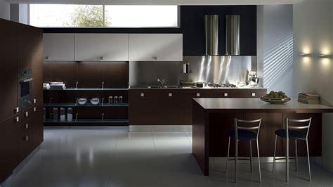 sleek modern kitchen    posh contemporary office