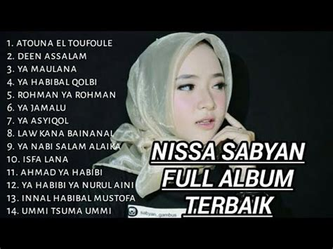 sholawat nissa sabyan full album terbaik youtube