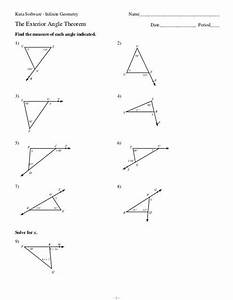 Kuta Software Infinite Geometry The Exterior Angle Theorem