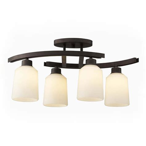 kitchen island mobile shop canarm quincy 4 75 in w 4 light rubbed bronze