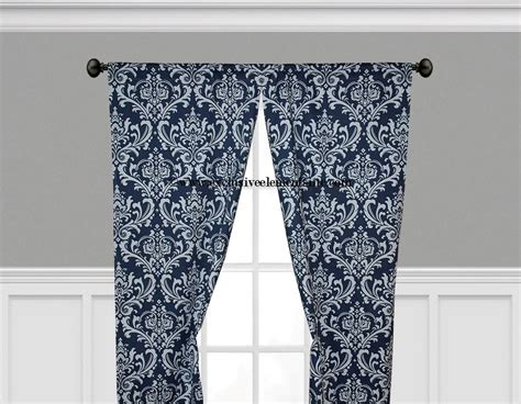 Damask Navy Blue And White Damask Curtain Panels Damask Window Treatments Drapes Portable Laser Safety Curtains What Color Go With Grey Walls And Tan Furniture Home Bargains Yellow Patterned Uk Black White Checkered Curtain Panels Lime Green Brown Country Lace Valance Hidden Tab Top