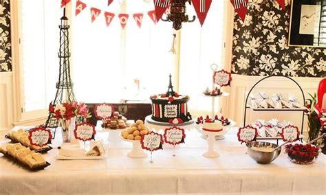 parisian birthday party planning ideas supplies idea cake
