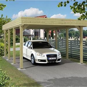 Garage En Bois Leroy Merlin : carport bois jaarma 1 voiture 18 5 m leroy merlin ~ Melissatoandfro.com Idées de Décoration