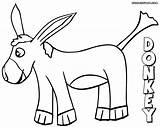 Donkey Coloring Pages sketch template