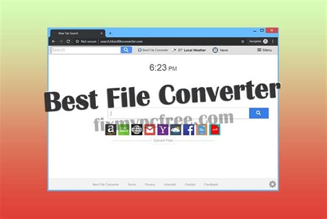 Best File Converter How To Remove Best File Converter Browser Hijacker Pup