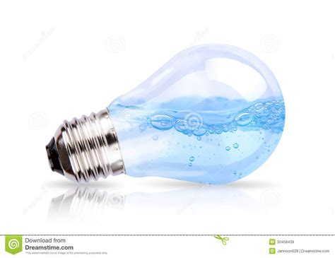 inside of a light bulb light bulb with water inside royalty free stock images
