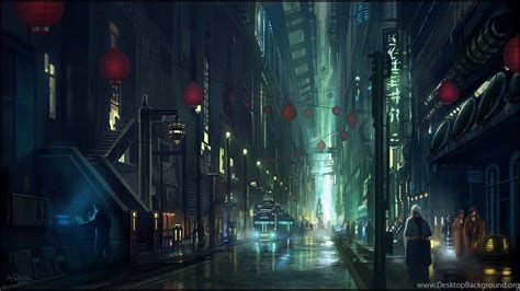 Anime City Wallpaper - anime city scenery wallpapers desktop background