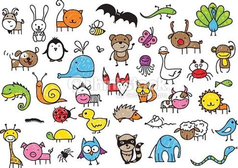 small cute cartoon animals  drawing google search