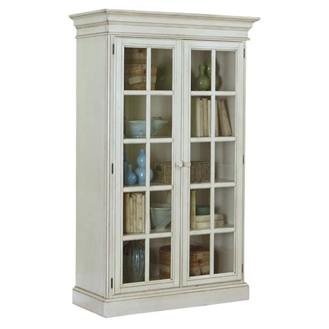 white curio cabinet furniture bowery hill 48 quot curio cabinet in old white bh 483906 307846