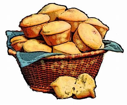 Cornbread Clip Clipart Sandwich Corn Muffin Drawing