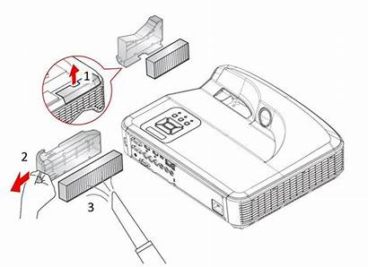 Projector Filter Dust Cleaning Change Filters Often