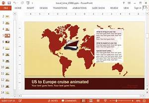 animated travel time powerpoint template With travel themed powerpoint template