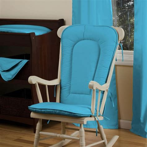 solid turquoise rocking chair pad