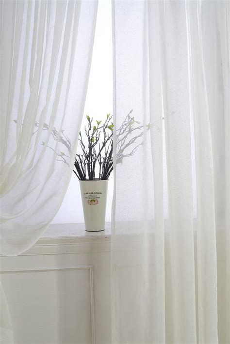 1000 ideas about white sheer curtains on