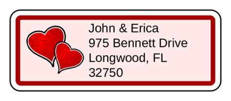 valentines day heart swirls address label label