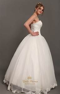 ivory lace bodice organza skirt sweetheart wedding dresses With wedding dress without train