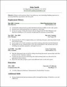 basic resume sles download sales resume sales resume sle