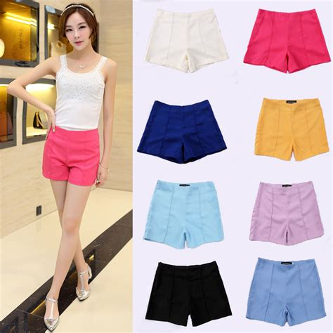 New-Fashion-Korean-Style-Casual-Women-Shorts-2016-Solid-Flat-Front-Easy-Matching-Short-Hot ...