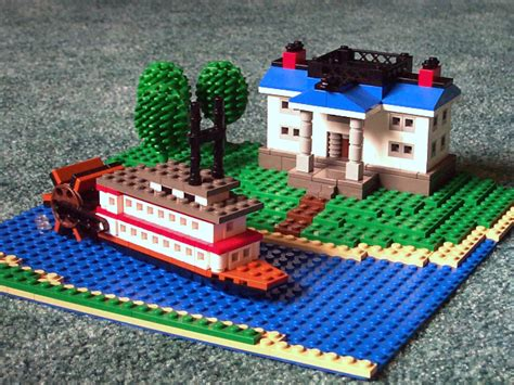 Lego Narrow Boat by Brickshelf Gallery Steamboat 02 Jpg