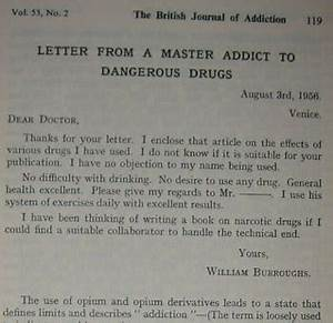 letter from a master addict to dangerous drugs daily With letter from drugs to addict