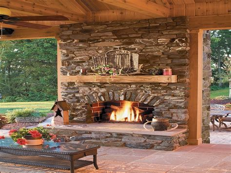 Patios With Fireplaces Outdoor Stone Patio With Fireplace