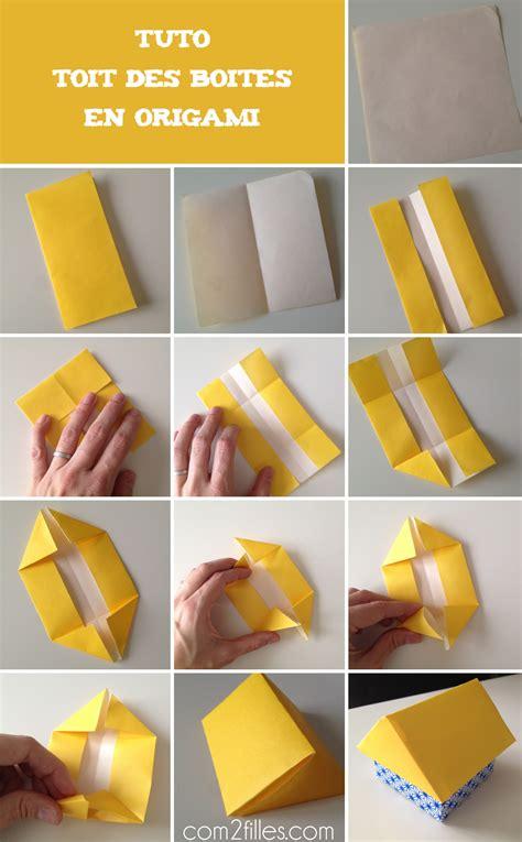 diy des boites en forme de maison en papier origami