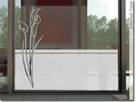 Fenster Sichtschutzfolie Blumen sichtschutzfolie blume callas glasfolie f 252 r fenster