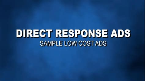 direct response tv commercial sample ads youtube