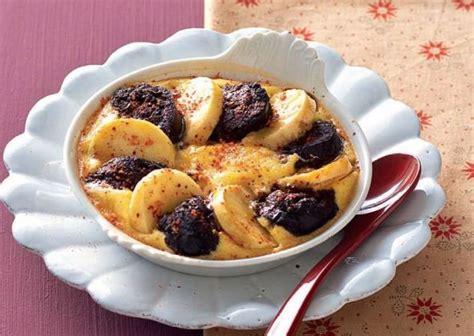 cuisine clafoutis aux pommes recette clafoutis de boudin aux pommes