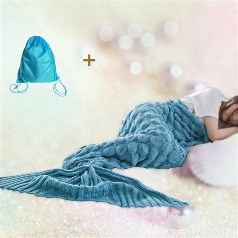 mermaid tail sofa blanket mermaid tail blanket for adults and kids crochet snuggle
