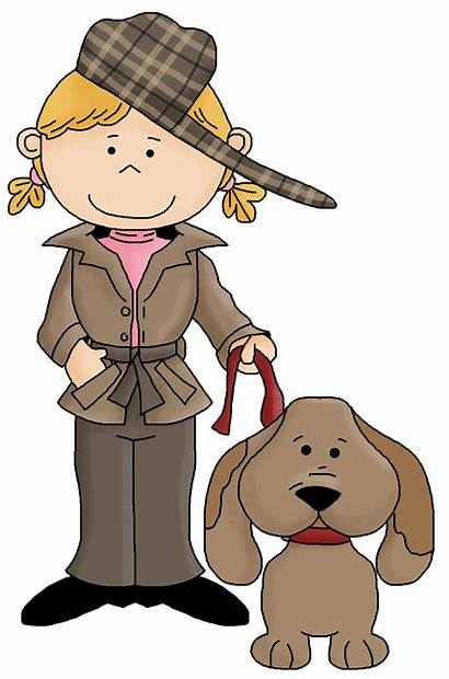 Detectives Detective Clipart Female Cartoon Kid Cliparts