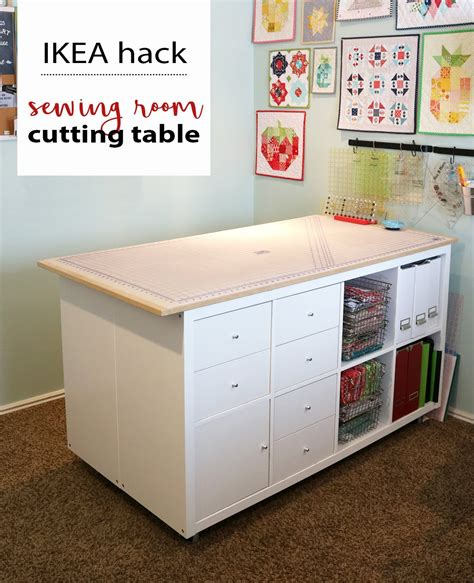 bright corner diy sewing room cutting table ikea hack