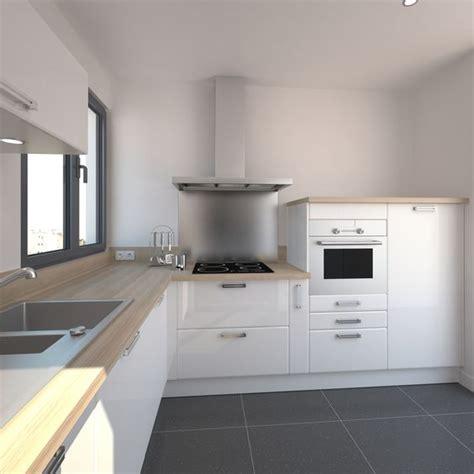 cuisine toute blanche cuisine blanche design meuble iris blanc brillant design