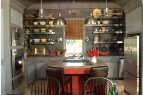 P Allen Smith Home Interiors : A Rustic Kitchen With Open Shelving