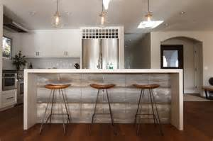 l shaped kitchen islands with seating waterfall kitchen island transitional kitchen eric aust architect