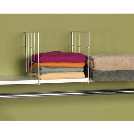 wire shelf dividers household essentials wire shelf divider white walmart