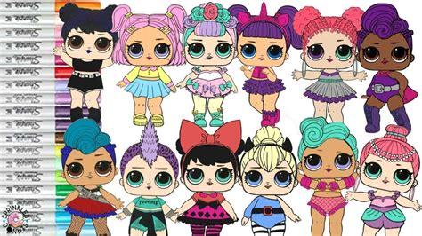 Lol Surprise Dolls Coloring Book Color Swap Compilation