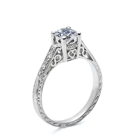 tacori 18 karat hand engraved engagement ring ht2202 tq