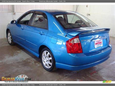 2006 Kia Spectra Ex Sedan Spark Blue / Gray Photo #7