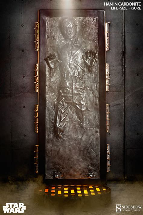 nerdly nerd buy star wars life size han solo  carbonite
