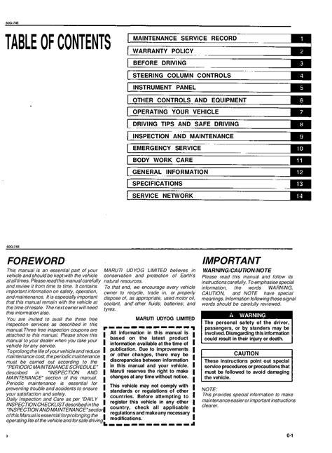 1999 suzuki baleno Owners Manual | Just Give Me The Damn