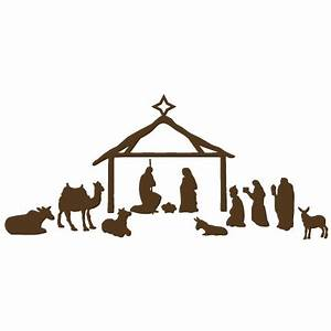 Nativity Scene scrapbook clip art christmas cut outs for ...