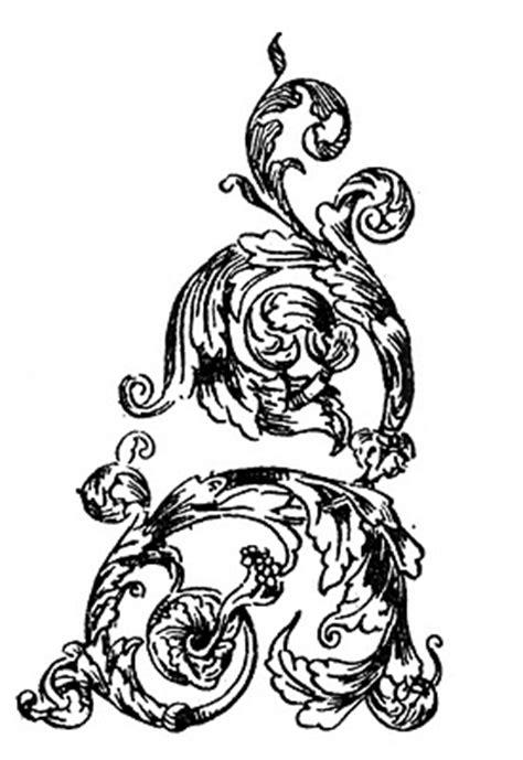 vintage clip art french ornamental designs