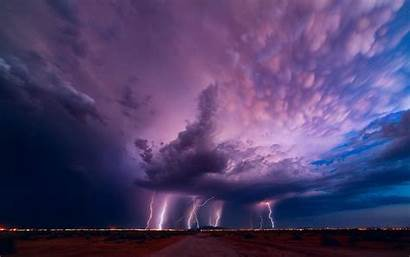 Lightning Storm Widescreen Tornado Amazing Thunderstorm Sky